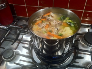 Some simmer action on the hob